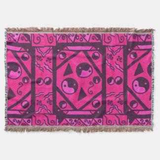 Yin And Yang Pink Black Haze SDL Throw Blanket