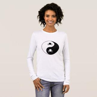 Yin and yang skulls long sleeve T-Shirt