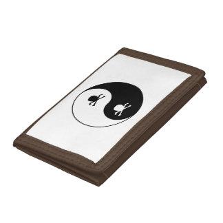Yin and yang skulls trifold wallets