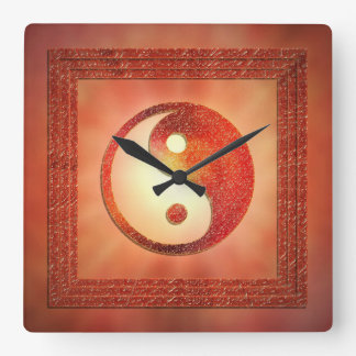 Yin and Yang Square Wall Clock