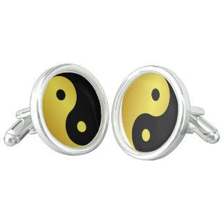 Yin and Yang symbol | Gold asian philosophy zen Cuff Links