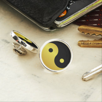 Yin and Yang symbol | Gold asian philosophy zen Lapel Pin