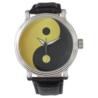 Yin and Yang symbol | Gold asian philosophy zen Watch