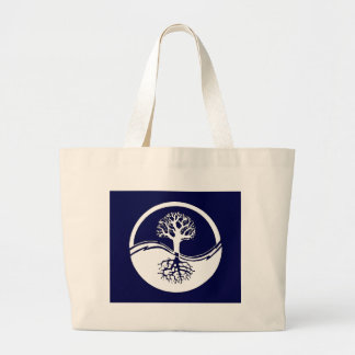 Yin and yang symbol large tote bag