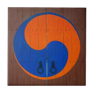 Yin and Yang symbol, South Korea Ceramic Tile