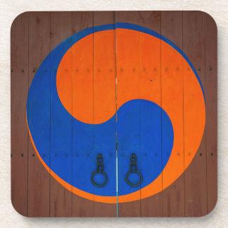 Yin and Yang symbol, South Korea Coaster