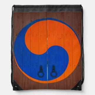 Yin and Yang symbol, South Korea Drawstring Bag