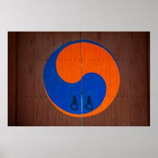Yin and Yang symbol, South Korea Poster