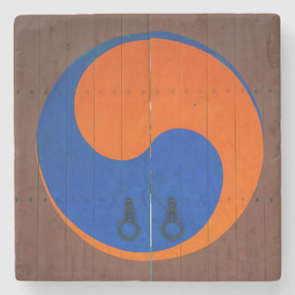 Yin and Yang symbol, South Korea Stone Coaster