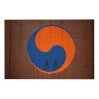 Yin and Yang symbol, South Korea Wood Prints