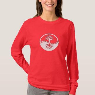 Yin and yang tree of life tshirt