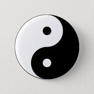 Yin and yang (yin-yang, yin yang, 陰陽). 2 inch round button