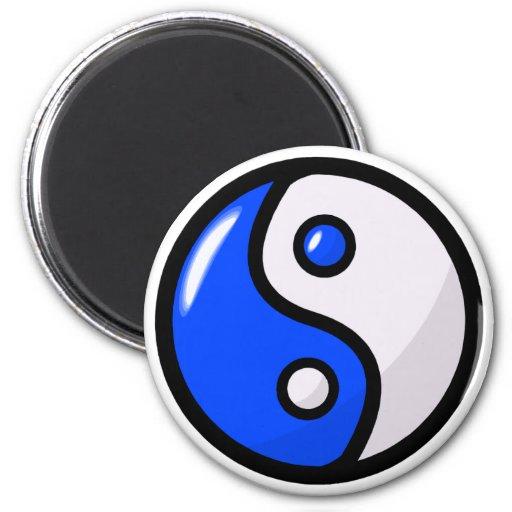 Yin bleu brillant Yang dans l'équilibre Aimant