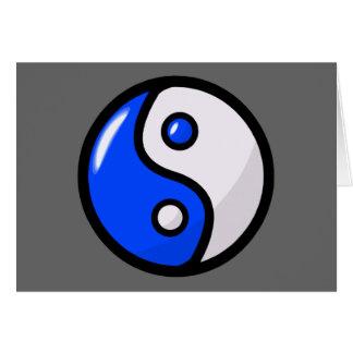 Yin bleu brillant Yang dans l'équilibre Carte De Vœux