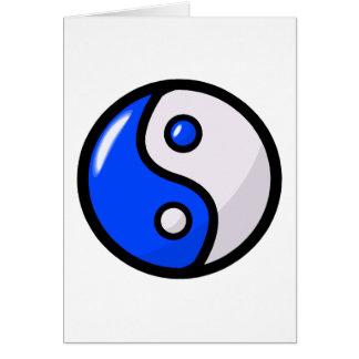 Yin bleu brillant Yang dans l'équilibre Cartes De Vœux