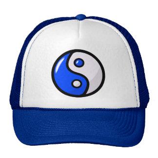 Yin bleu brillant Yang dans l'équilibre Casquettes De Camionneur