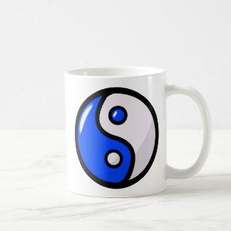 Yin bleu brillant Yang dans l'équilibre Tasse À Café