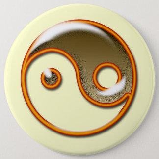 Yin & Yan 6 Inch Round Button