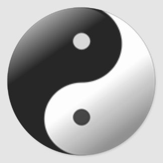 Yin Yang #03 Classic Round Sticker