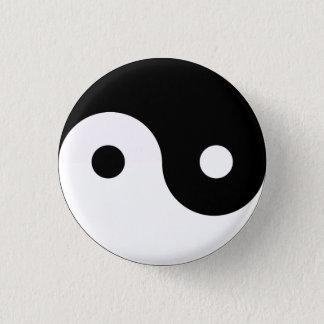 Yin Yang 1 Inch Round Button