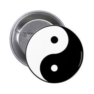 Yin Yang 2 Inch Round Button