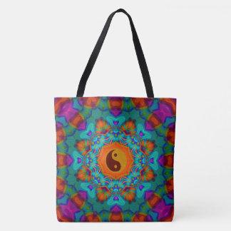 yin yang,70's tote bag