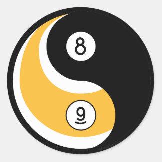 Yin yang symbol stickers yin yang symbol custom sticker for 8 ball pool design