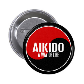 Yin Yang Aikido 1 Pinback Buttons