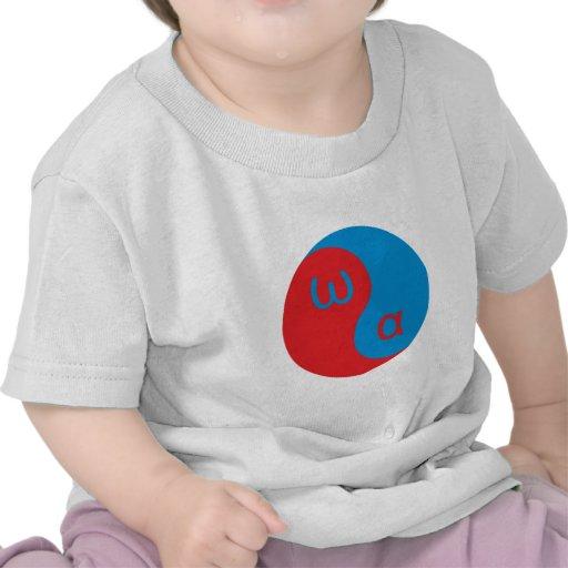 Yin Yang alpha omega Tshirts