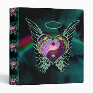 Yin Yang, Angel Wings and Heart 3 Ring Binders