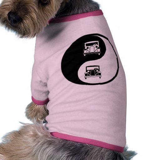 Yin Yang Antique Cars Dog Shirt