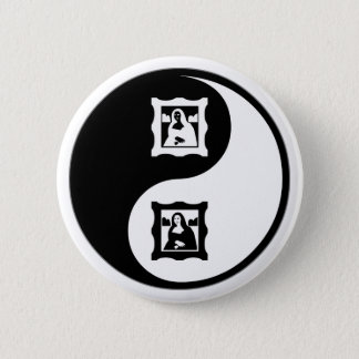 Yin Yang Art History 2 Inch Round Button