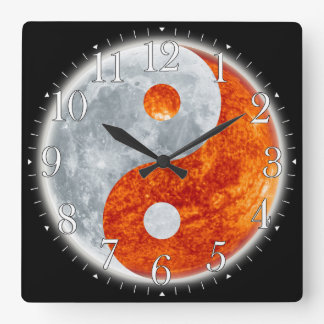 Yin & Yang Asian sign for Balance Wall Clock