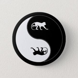 Yin Yang Baboon 2 Inch Round Button