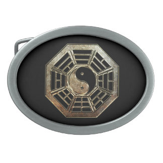 Yin Yang Bagua Oval Belt Buckle