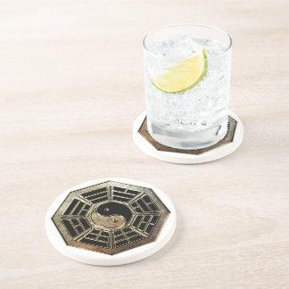 Yin Yang Bagua Sandstone Drink Coaster