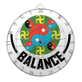 Yin Yang Balance Dartboard