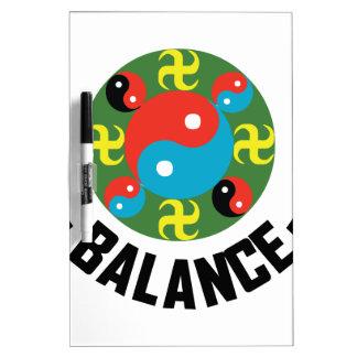Yin Yang Balance Dry-Erase Whiteboard