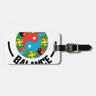 Yin Yang Balance Luggage Tag