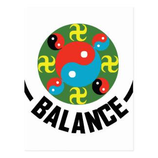 Yin Yang Balance Postcard