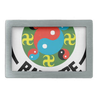 Yin Yang Balance Rectangular Belt Buckle