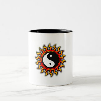 Yin Yang Balanced Sun Two-Tone Coffee Mug