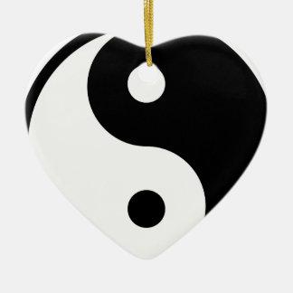 yin yang Basic Line Ceramic Ornament