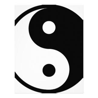 yin yang Basic Line Letterhead