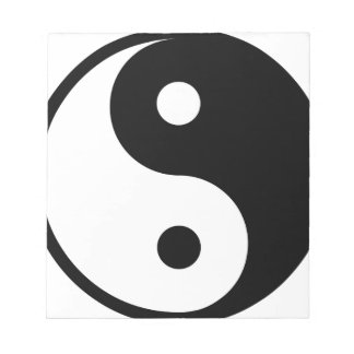 yin yang Basic Line Notepad