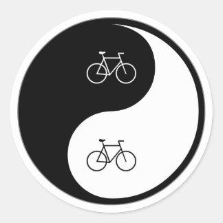 Yin Yang Bicycling Stickers