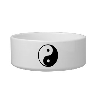Yin Yang Black and White IllustrationTemplate Bowl