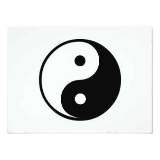 Yin Yang Black and White IllustrationTemplate Card