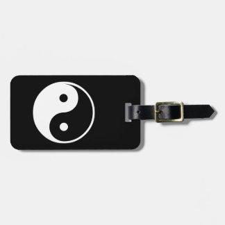 Yin Yang Black and White IllustrationTemplate Luggage Tag