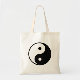 Yin Yang Black and White Illustration Template Tote Bag